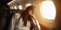 Trockene Augen während der Fluggesellschaft reisen