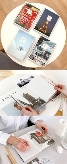 You will love the fascinating photos of Paris, London, Tokyo and Hokkaido. These lovely photos of Travel Photo Notebook are sure to pamper your wanderlust!