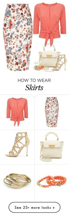"""""""Floral Pencil Skirt"""" by houston555-396 on Polyvore featuring River Island, ZAC Zac Posen, Dorothee Schumacher, Chico's, Dee Berkley and Sergio Rossi"""