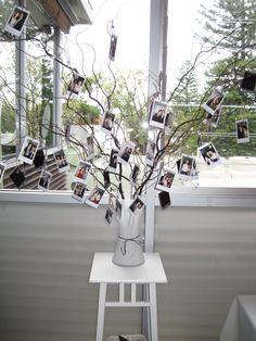Hanging polaroid wish tree