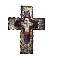 """Infinity Wall Cross by David Broussard is the perfect gift for the person going through a hard time. """"This cross reminds us that there is no pit so deep that God is not deeper still."""" Corrie Ten Boom Making metal art inspirational, handmade and unique."""