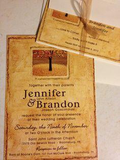 My fall wedding invitations :-)