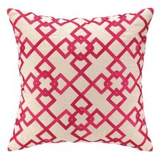 I pinned this Chain Link Pillow in Pink from the Preppy & Plush event at Joss and Main!