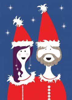 Isak postkaart - Santas