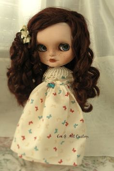 BLYTHE &  ART: PEPA, A JECCI FIVE DOLL CUSTOM, FOR ADOPTIOM
