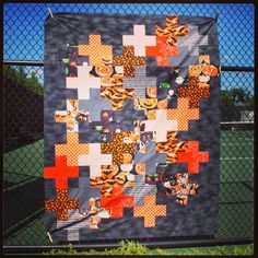 A modern take on Halloween quilts - deploy that stash of novelty prints!