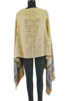 A luxurious Pashmina wrap is the perfect fashion accessory for any season. This shawl is reversible, giving you two different looks! ①This shawl is hand woven. Pashmina Scarf, Shawls, Scarf Wrap, Online Price, Paisley, Cashmere, Scarves, Kimono Top, Elephant