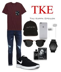 """Tau Kappa Epsilon"" by kayshaiscrazy on Polyvore featuring Fraternity, Topman, Rip Curl, NIKE, Native Union, Beats by Dr. Dre, Ace, Diesel, Giorgio Armani and men's fashion"