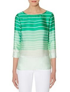 Silky Striped Top