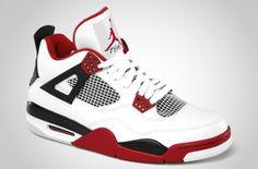 Air Jordan IV - White-Varsity Red-Black
