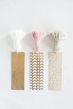 DIY Chunky Tassel Bookmarks