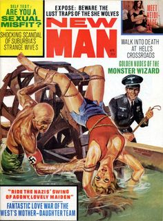 Men's Pulp Adventure Magazines  NEW MAN, April 1968. Cover by Basil Gogos.