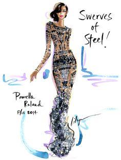 """Heavy Mettle…""""Swerves of Steel!"""" Pamella Roland F/W 2014 xo"""