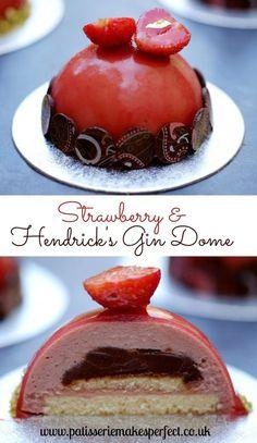Strawberry & Hendrick's Gin Dome | Patisserie Makes Perfect