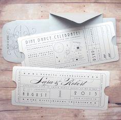 Vintage Ticket, Hollywood, Premiere Night, Red Carpet, Enclosure, Insert, Theater Ticket, Movie Ticket, Wedding, Birthday, Vow Renewal, Reception, Save the Date, Invitation, Bar Mitzvah, Bat Mitzvah