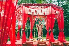 hexagonal mandaps , hanging kaleere mandap , pooja sthal ,
