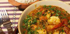 Curry cu rosii si creveti, rapid, aromat, sanatos. Calamari, Seafood, Chicken, Meat, Sea Food, Octopus, Cubs, Seafood Dishes