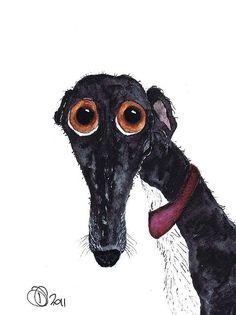 Greyhound Print By Dawn Barker