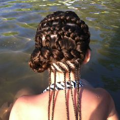 Back view- corn row weave