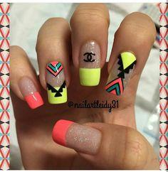 Indian Nails, Natural Acrylic Nails, Hot Nails, Gel Color, Beauty Secrets, Finger, Nail Designs, Make Up, Lily