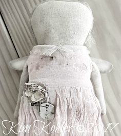Farmhouse Primitive Faceless Angel Doll Pale Pink AVAILABLE to