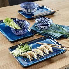 soldes hiver 2020 chez la redoute collection vaisselle bleue moderne japonaise Sushi, Clem, Garlic Press, Ceramics, Dishes, Kitchen, Indigo, Inspiration, Collection