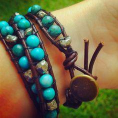 DIY wrap bracelet! So cuteeee
