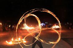 Natacha fire dancing