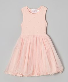 Pink Pearl Flounce Dress - Toddler & Girls
