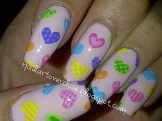 Nail Art Overdose: Valentine Nail Art Challenge Day 2: Hearts ♥ Make sure to check out http://www.thepolishobsessed.com for nail art, tutorials, giveaways and more!