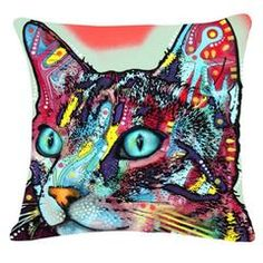 Colorful Mosaic Cat Throw Pillows Cat Cushion, Sofa Cushion Covers, Throw Pillow Covers, Throw Pillows, Dog Cushions, Printed Cushions, Dog Throw, Cat Pillow, Cute Cats And Dogs