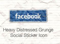 Social Grungy Sticker