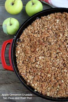 Apple Cinnamon Crumble @Maria (Two Peas and Their Pod)