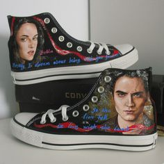custom/women/men shoes/Twilight/Converse/hand painted shoes/canvas