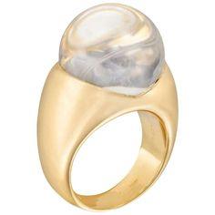 Mauboussin Rock Crystal Diamond Gold Ring 1