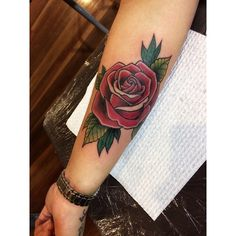 Neo traditional rose - victims of ink Melbourne