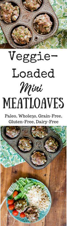 Veggie-Loaded Mini Meatloaves