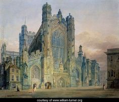 The West Front of Bath Abbey - Joseph Mallord William Turner - www.william-turner.org