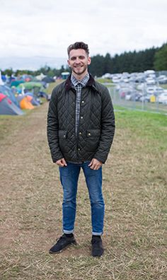 2c1be3f4482 We spotted Cameron enjoying the festivities at Kendal Calling wearing his  Barbour Quilted Jacket. Barbour