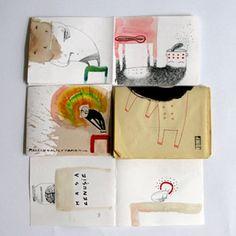 Ana Botezatu sketchbooks via Book By Its Cover