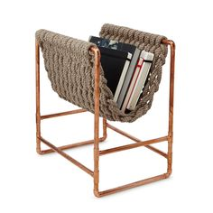 This Magazine Holder is Made Out of Old Fishing Ropes #furniture trendhunter.com