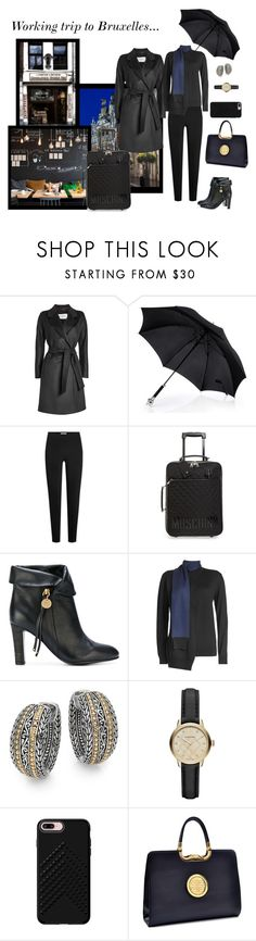 """""""Just Starting Out"""" by jjsunnygirl ❤ liked on Polyvore featuring MaxMara, T By Alexander Wang, Moschino, See by Chloé, Victoria, Victoria Beckham, Effy Jewelry, Burberry, Rebecca Minkoff and Dasein"""