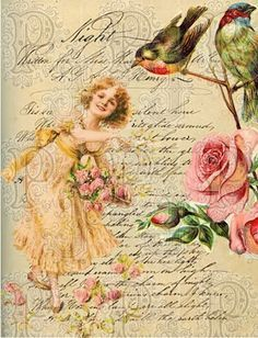 "Decoupage Paper "" Flowers"""