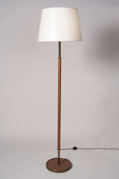 Brass arc lamp with marble base modern floor lamps floor lamp and 50s french textured leather floor lamp from a unique collection of antique and modern floor aloadofball Image collections