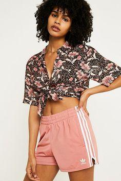 adidas Originals Pink 3-Stripe Shorts