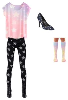 """""""Stars"""" by kylamckay1210 ❤ liked on Polyvore featuring Charles by Charles David, Yves Saint Laurent, women's clothing, women, female, woman, misses and juniors"""