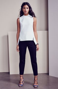 Product image 5 work wear в 2019 г. fashion, minimalist fashion и minimalis Black Girl Fashion, White Fashion, Structure Clothing, Fashion Pants, Fashion Outfits, Fashion Clothes, Summer Work Outfits, Professional Outfits, Mode Outfits