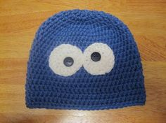 Cookie Monster Inspired Beanie 2 to 5T by megscutekidshop on Etsy, $19.00