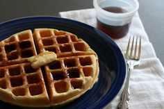 Sweet Milk Homemade Waffles Recipe {From Grandma's Old Recipe Box}