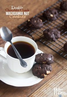 Double Chocolate Chunk Macadamia Nut Cookies (GF, DF, PALEO)